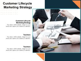 Customer Lifecycle Marketing Strategy Ppt Powerpoint Presentation Infographics Summary Cpb