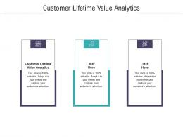 Customer Lifetime Value Analytics Ppt Powerpoint Presentation Summary Graphics Pictures Cpb