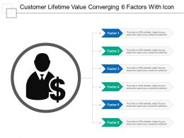 Customer Lifetime Value Converging 6 Factors With Icon
