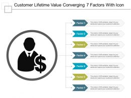 Customer Lifetime Value Converging 7 Factors With Icon