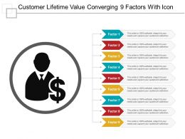 Customer Lifetime Value Converging 9 Factors With Icon