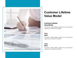 Customer Lifetime Value Model Ppt Powerpoint Presentation Layouts Files Cpb