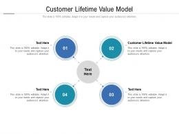 Customer Lifetime Value Model Ppt Powerpoint Presentation Show Files Cpb