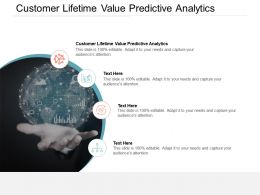 Customer Lifetime Value Predictive Analytics Ppt Powerpoint Presentation Styles Slide Portrait Cpb
