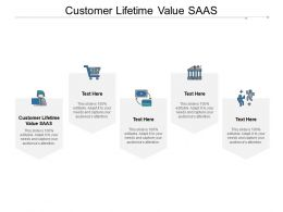 Customer Lifetime Value SAAS Ppt Powerpoint Presentation Slides Grid Cpb