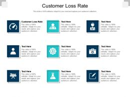 Customer Loss Rate Ppt Powerpoint Presentation Infographics Inspiration Cpb