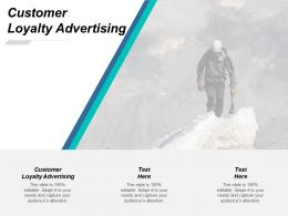 Customer Loyalty Advertising Ppt Powerpoint Presentation Pictures Maker Cpb