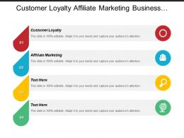 Customer Loyalty Affiliate Marketing Business Hosting Sales Logistics