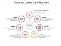 Customer Loyalty Card Programs Ppt Powerpoint Presentation Pictures Layout Cpb