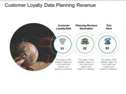 Customer Loyalty Data Planning Revenue Generation Marketing Processes Cpb