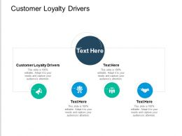 Customer Loyalty Drivers Ppt Powerpoint Presentation Portfolio Slides Cpb