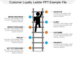 Customer Loyalty Ladder Ppt Example File