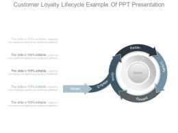 Customer Loyalty Lifecycle Example Of Ppt Presentation