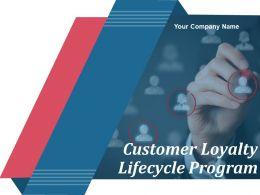 Customer Loyalty Lifecycle Program Powerpoint Presentation Slides