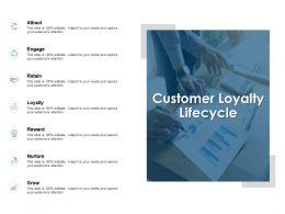 Customer Loyalty Lifecycle Reward Nurture Ppt Powerpoint Presentation Icon Deck