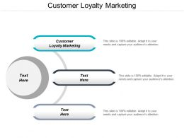 Customer Loyalty Marketing Ppt Powerpoint Presentation Pictures Brochure Cpb