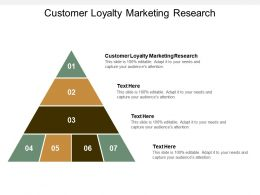 Customer Loyalty Marketing Research Ppt Powerpoint Presentation Styles Outfit Cpb