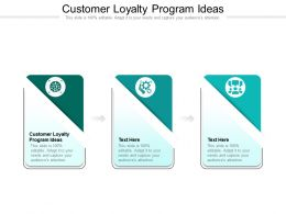 Customer Loyalty Program Ideas Ppt Powerpoint Presentation Layouts Smartart Cpb