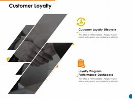Customer Loyalty Program Performance Ppt Powerpoint Presentation Show Outline