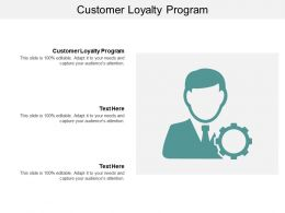 Customer Loyalty Program Ppt Powerpoint Presentation Gallery Information Cpb