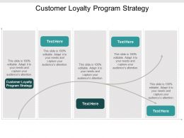 Customer Loyalty Program Strategy Ppt Powerpoint Presentation Summary Gallery Cpb