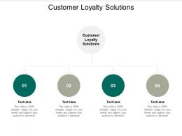 Customer Loyalty Solutions Ppt Powerpoint Presentation Model Themes Cpb