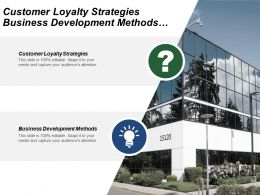 Customer Loyalty Strategies Business Development Methods Sales Negotiation