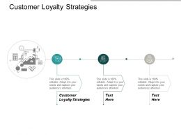 Customer Loyalty Strategies Ppt Powerpoint Presentation Portfolio Guidelines Cpb