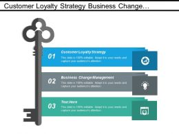 Customer Loyalty Strategy Business Change Management Resource Management Cpb