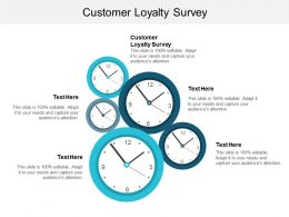 Customer Loyalty Surve Ppt Powerpoint Presentation File Design Inspiration Cpb