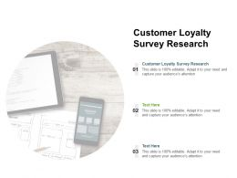 Customer Loyalty Survey Research Ppt Powerpoint Presentation Icon Show Cpb
