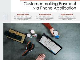 Customer Making Payment Via Phone Application