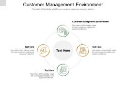 Customer Management Environment Ppt Powerpoint Presentation Icon Skills Cpb