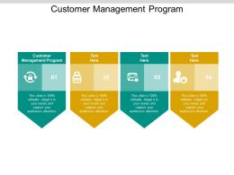 Customer Management Program Ppt Powerpoint Presentation Professional Cpb