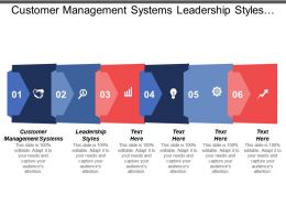 Customer Management Systems Leadership Styles Concentric Marketing Commerce Strategies