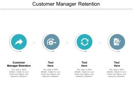 Customer Manager Retention Ppt Powerpoint Presentation Layouts Structure Cpb