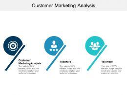 Customer Marketing Analysis Ppt Powerpoint Presentation File Design Ideas Cpb