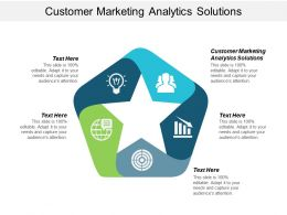 Customer Marketing Analytics Solutions Ppt Powerpoint Presentation Icon Guide Cpb
