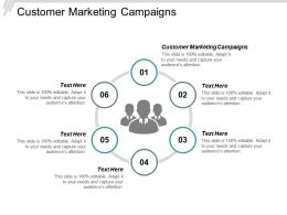 Customer Marketing Campaigns Ppt Powerpoint Presentation Icon Visual Aids Cpb