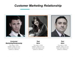 Customer Marketing Relationship Ppt Powerpoint Presentation Gallery Deck Cpb