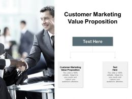 Customer Marketing Value Proposition Ppt Powerpoint Presentation Pictures Format Cpb