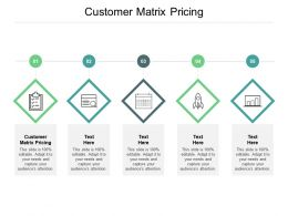 Customer Matrix Pricing Ppt Powerpoint Presentation Pictures Structure Cpb