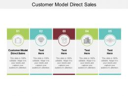 Customer Model Direct Sales Ppt Powerpoint Presentation Portfolio Introduction Cpb
