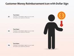 Customer Money Reimbursement Icon With Dollar Sign