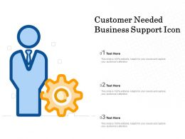 Customer Needed Business Support Icon