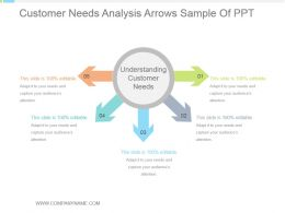 Customer Needs Analysis Arrows Sample Of Ppt