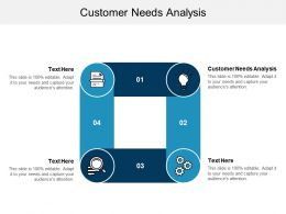 Customer Needs Analysis Ppt Powerpoint Presentation File Examples Cpb