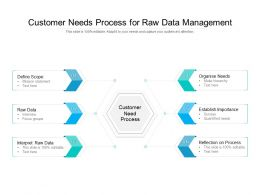 Customer Needs Process For Raw Data Management