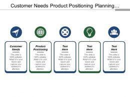 Customer Needs Product Positioning Planning Launch Idea Generation