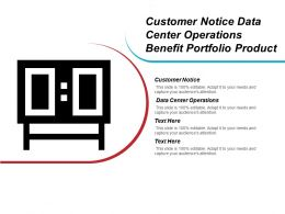 Customer Notice Data Center Operations Benefit Portfolio Product